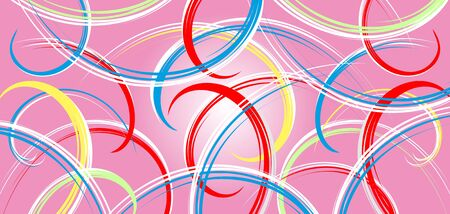 Abstract background - colorful ribbons on pink Stock Vector - 14636733