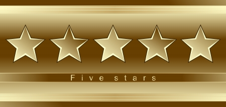 Advertising template - five gold stars Vector