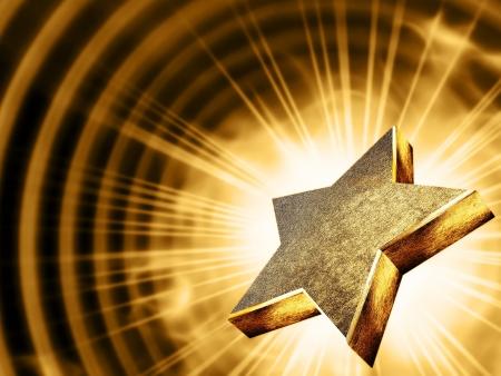 etoile or: Une �toile d'or dans les rayons de la lumi�re