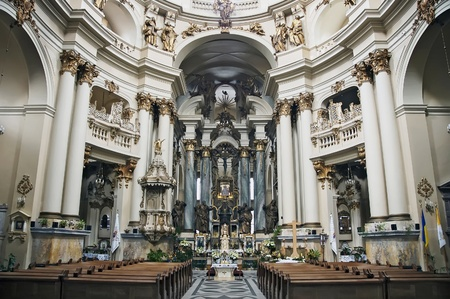 Dominican church in Lviv, Ukraine  Founded in 1745 Stock Photo - 14637502
