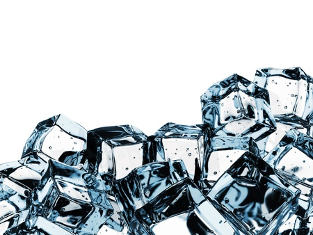 Beautiful Ice cubes, isolated over white