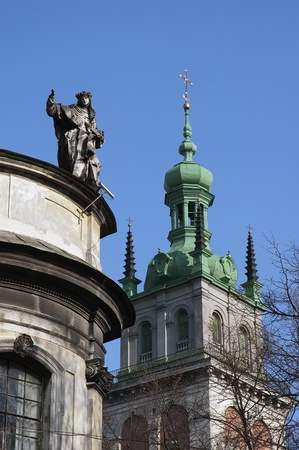 Dominican and Assumption Church in Lviv, Ukraine Stock Photo - 14637128