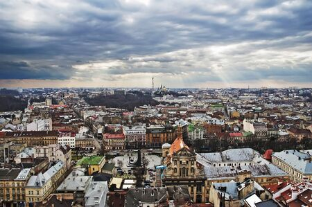 Panorama of the city of Lviv