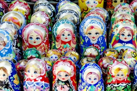 matroshka: Traditional souvenirs for tourists - Russian matrioshka (nesting dolls)