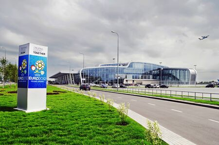 LVIV, UKRAINE - JUNE 04, 2012: In Lviv, opened an 'Lviv International Airport' named after Danylo of Galich. The airport was built specially for the Euro 2012.
