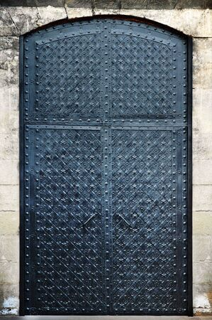 Forged metal doors Stock Photo