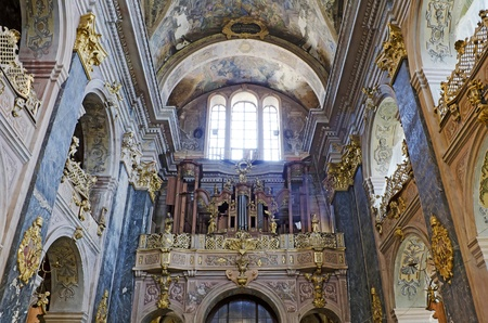 LVIV, UKRAINE - MAY 30, 2012: Catholic church of Saints Peter and Paul (order of Jesuits) in the centre of Lviv city (Theater st.). Was built 1610—1630. Stock Photo - 14654023