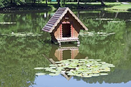 House for the swans in the park photo