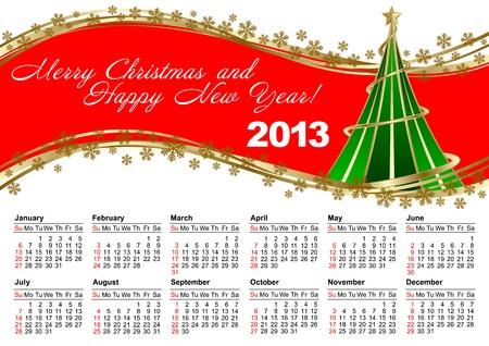 American calendar for 2013 Stock Vector - 15256155
