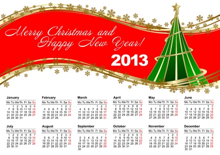 European calendar for 2013 Stock Vector - 15256157
