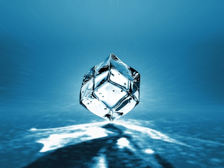 icecubes: Beautiful ice cube on a blue background