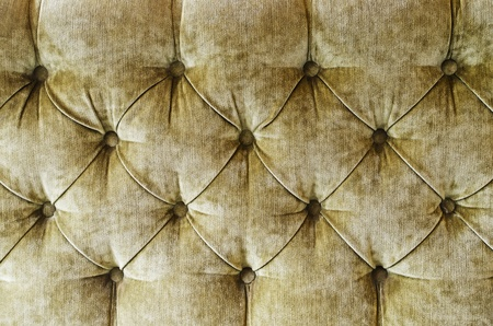 Fabric upholstery of vintage sofa close-up  photo