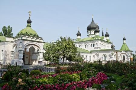 intercession: Church of the Intercession in Pokrovsky Monastery in Kiev, Ukraine