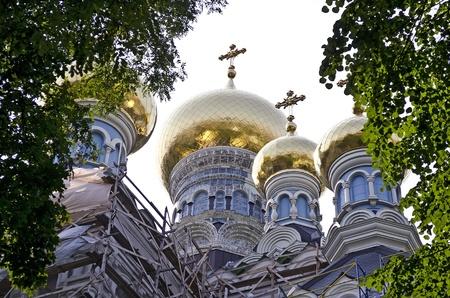 St. Nicholas Cathedral in Pokrovsky Monastery in Kiev, Ukraine Stock Photo - 15548230