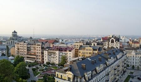 Panorama van de Kiev, Oekraïne Stockfoto