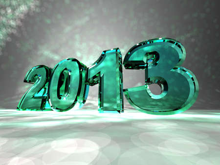 year 3d: New year - 3d inscription