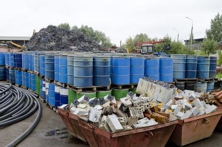 Stapel van schroot voor recycling Stockfoto