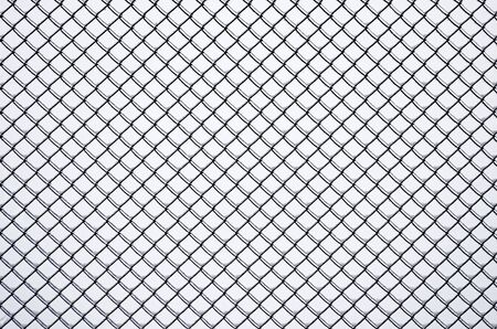Metal mesh fence frozen in ice closeup against sky Stock Photo - 17833283