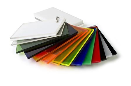 Het kleurenpalet van acryl, geïsoleerd op witte achtergrond