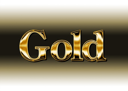 Beautiful golden inscription of the word  Stock Photo