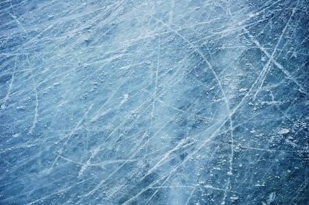Scratches on the surface of the ice Stock Photo - 18880039
