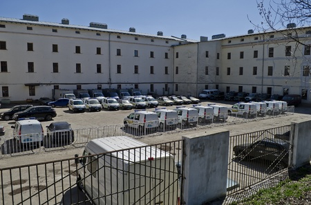 LVOV, UKRAINE - APRIL 21:  New police cars purchased by the Ministry of the Interior in the Lviv region in the parking in the city center on April 21, 2013 in Lvov, Ukraine