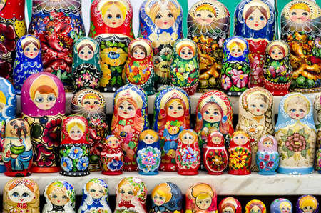 matroshka: Traditional souvenirs for tourists - Russian matrioshka  nesting dolls