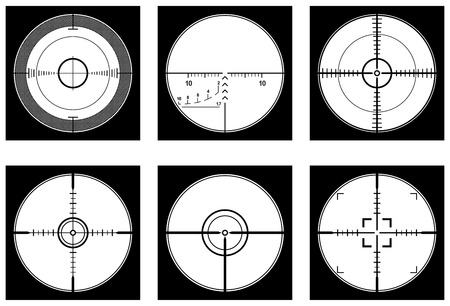 reticle: Crosshairs (optical sight or sniperscope) highly detailed set in vector