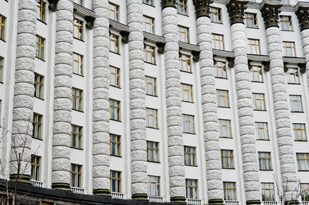 ministers: The building of the Cabinet of Ministers of Ukraine in Kiev