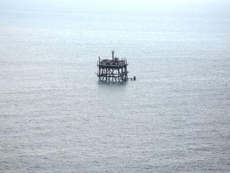 oceanographic: Abandoned oceanographic platform in the Black Sea, Crimea, Ukraine