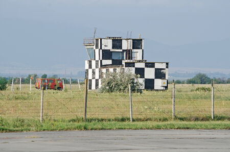 control tower: Control tower at the airport in the Kirovskoe, Crimea, Russian