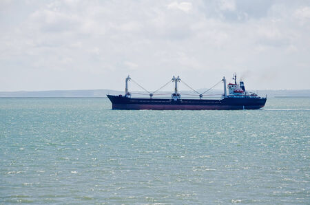 Freighter in the Kerch Strait, Crimea, Russia