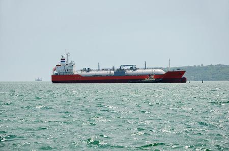 lng: LNG tanker in the Kerch, Crimea, Russia