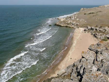 azov sea: Beach on the coast of the Azov sea, Crimea