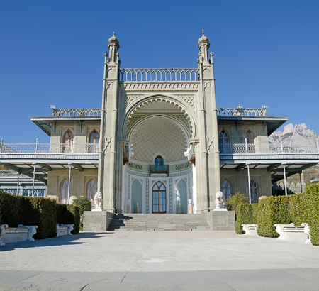 vorontsov: Southern facade of the Vorontsov Palace in Alupka, Crimea
