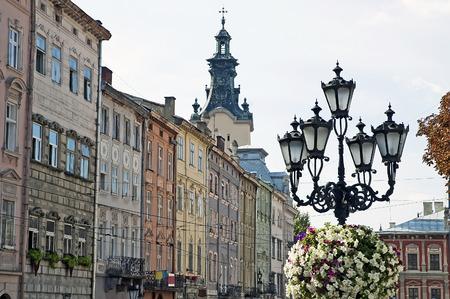 lvov: Cityscape - Old buildings in Lvov, Ukraine