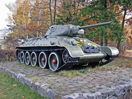 t34: Monument to Soviet tank T-34 in Petrivtsi near Kiev