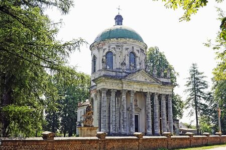 lvov: PIDHIRTSI, LVOV, UKRAINE - AUGUST 04: Roman Catholic church of the Exaltation of the Holy and St. Joseph. Pidhirtsi Castle, near Lviv, Ukraine on August 04, 2012 in Pidhirtsi, Lvov, Ukraine. Time of construction 1752-1766