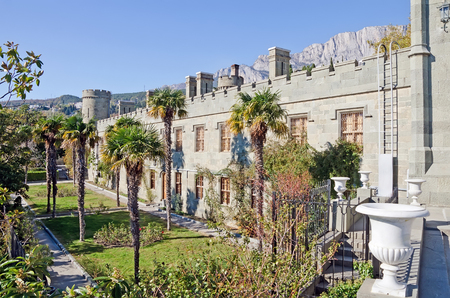 vorontsov: Architectural landmark - Vorontsov Palace in Alupka, Yalta, Crimea