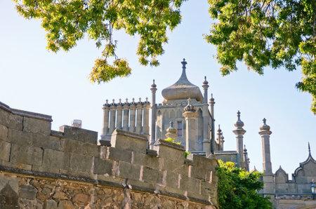 alupka: Architectural landmark - Tower East side of the Vorontsov Palace in Alupka, Yalta, Crimea