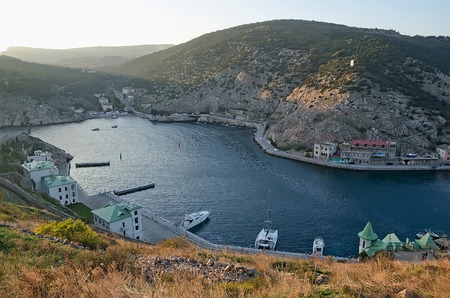 hight: General view of Balaklava from hight. Sevastopol, Crimea