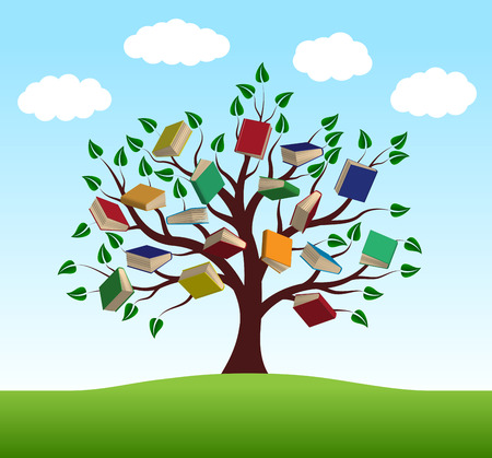 knowledge: Tree of knowledge in the vector close-up Illustration