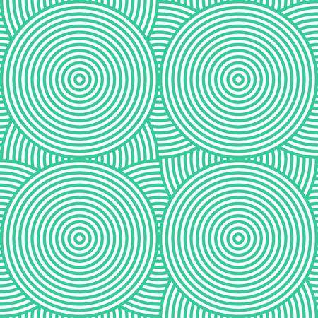 Retro seamless background consisting of concentric circles in vector Illustration