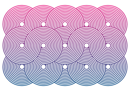 retro patterns: Retro pattern consisting of concentric circles in vector isolated over white