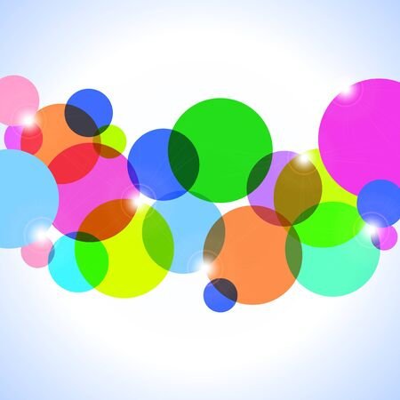 bitmap: Bitmap illustration - Abstract background of colorful circles