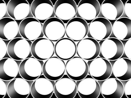 metal pipes: Illustration in 3D - Background of metal pipes closeup