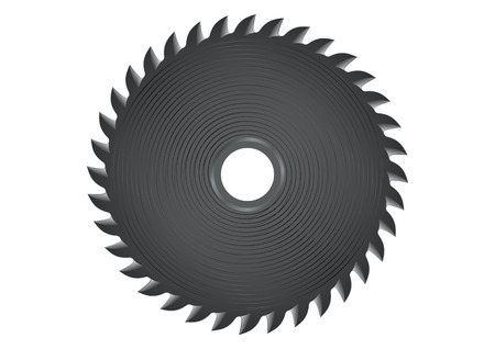 circular saw: Circular saw in vector, isolated on a white background