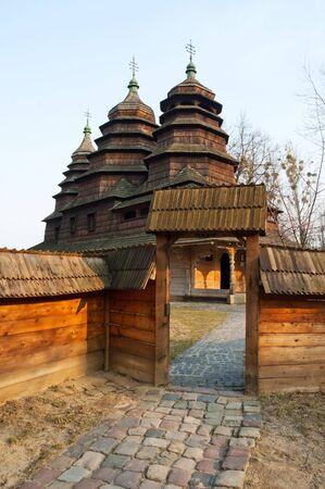 lvov: Old Orthodox wooden Church in Shevchenko grove in Lvov, Ukraine