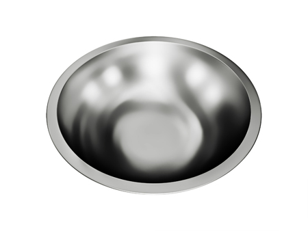 steel: Stainless steel bowl isolated on a white background
