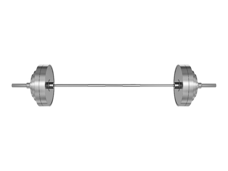 by virtue: Sports metal barbell, isolated on white background